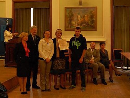 Pierwsze miejsce w Ogólnopolskim konkursie BHP
