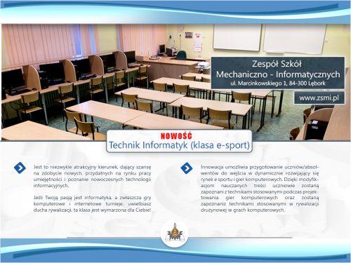 TECHNIK INFORMATYK (klasa E-SPORT)