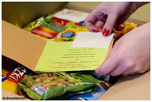 Bożonarodzeniowe paczki przygotowane przezuczniów orazpracowników ZSMI