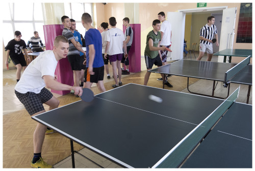 Mistrzostwa szkoły w Tenisie Stołowym chłopców i dziewcząt.
