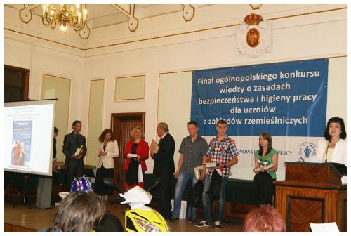 Finale Ogólnopolskiego Konkursu z wiedzy w zakresie Bezpieczeństwa i Higieny Pracy
