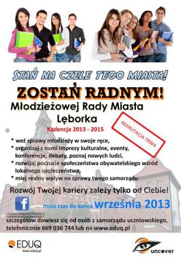 Zostań RADNYM Młodzieżowej Rady Miasta Lęborka!