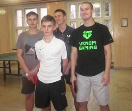 Najlepsza czwórka ZSM-I  Mateusz Madziąg, Edward Płotka, Cezary Gołębiowski orazMateusz Tandek.