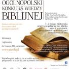 XVIII Ogólnopolski Konkurs Wiedzy Biblijnej