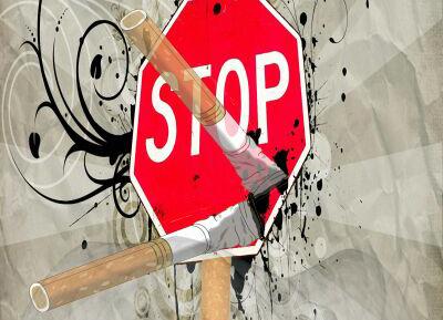 Konkurs na karykaturę pt. Używkom Stop