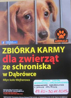 """Zbiórka KARMY dla schroniska """"OTOZ Animals"""""""