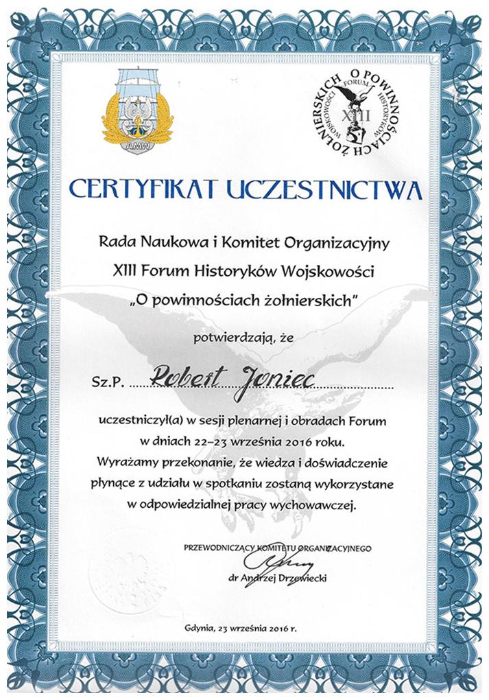 XIII forum historyków wojskowości wGdyni.
